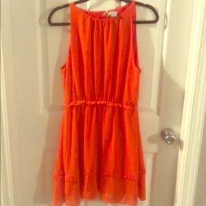 H&M orange dress, open back with clasp